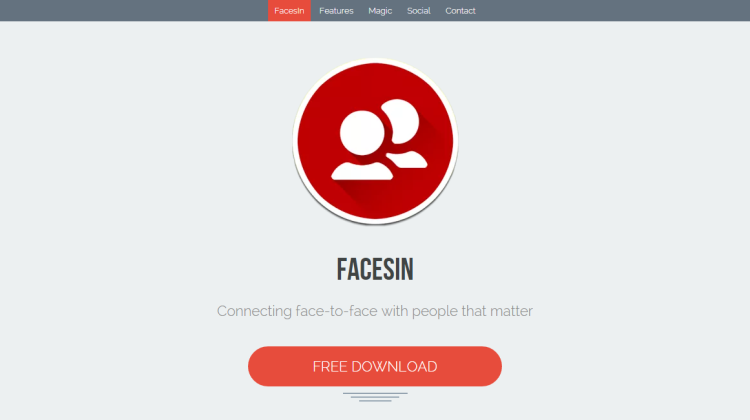 facesin social location app
