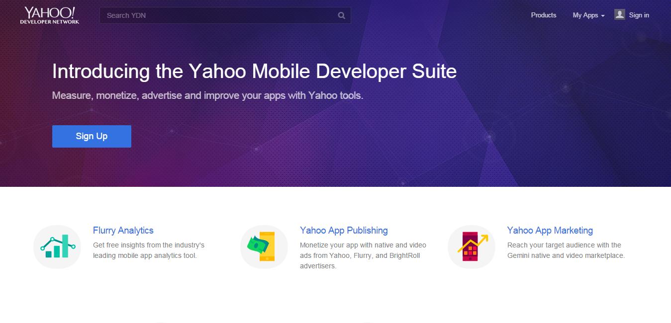 yahoo mobile development
