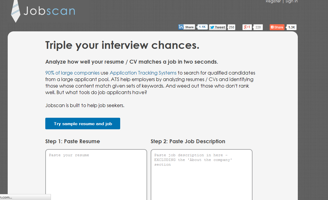 jobscan helps you create perfect resumes