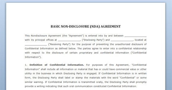 disclosure agreement