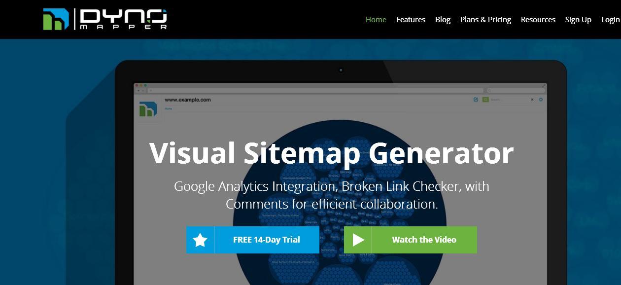 Dynomapper.com A Visual Sitemap Generator